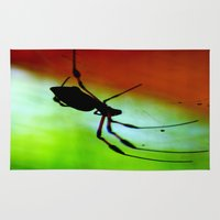 spider Area & Throw Rugs featuring spider by lennyfdzz
