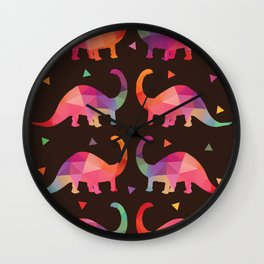 Geometric Dinosaurs Wall Clock