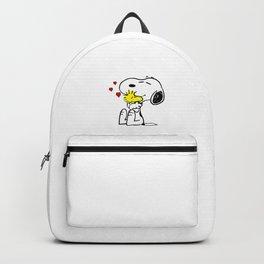 snoopy love woodstock Backpack
