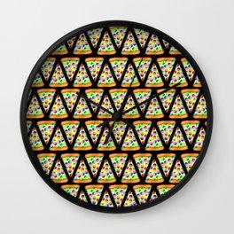 Rainbow Pizzas (Zigzag/Stripes)! Wall Clock