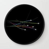 plane Wall Clocks featuring Plane by George Hatzis