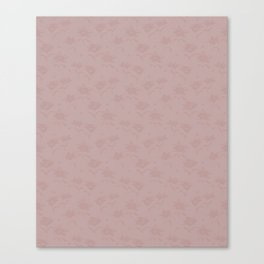 Flowers and ladybirds Block print - Pink Canvas Print