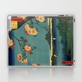 Ukiyo-e, The Grove at the Suijin Shrine Laptop & iPad Skin