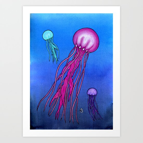 Colorful Jellies Art Print
