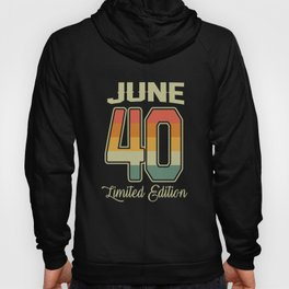 Vintage 80th Birthday June 1940 Sports Gift Hoody