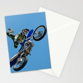 High Flying Aerial Motocross Stunt Stationery Cards