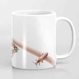 beetle and butterfly Coffee Mug