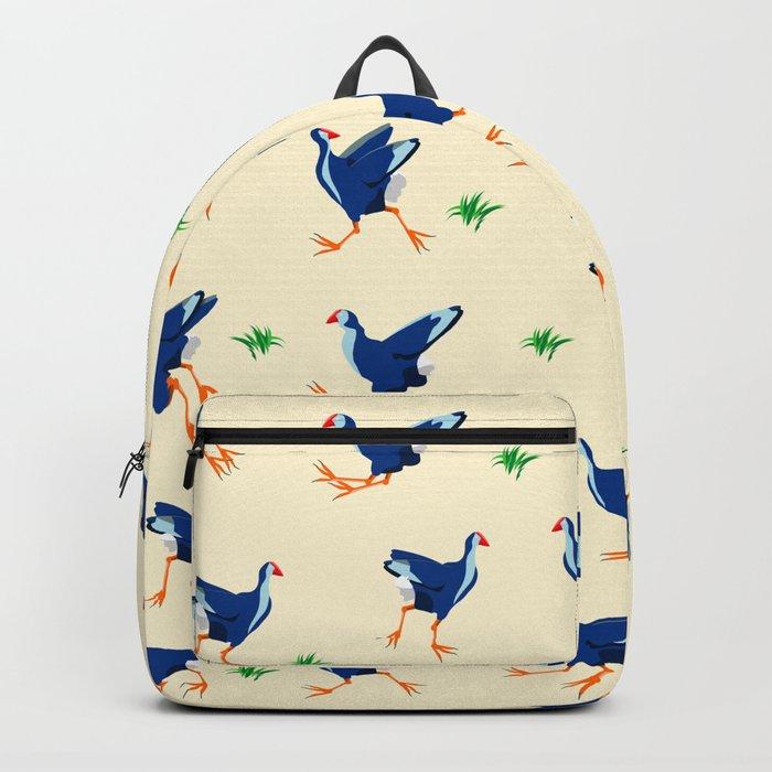 Pukeko swamp hen pattern Backpack