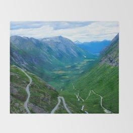 Snake Road Throw Blanket