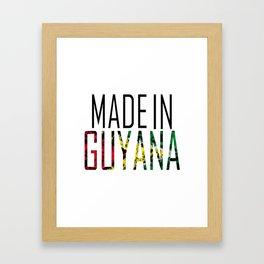 Made In Guyana Framed Art Print