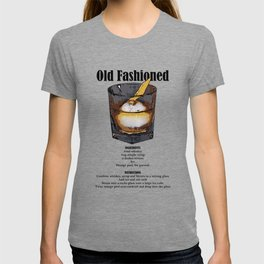 Old Fashioned - Classic Cocktail Recipe T-shirt