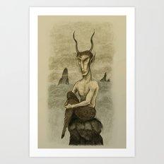 The Waiting Faun Art Print