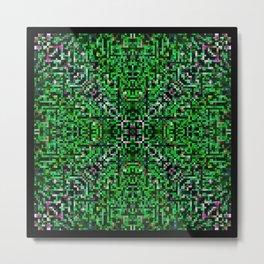sparkles. green Metal Print