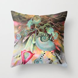 Cosmic Chandelier Throw Pillow