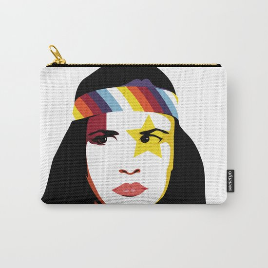=Juliette Lewis///White= Carry-All Pouch