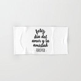 Feliz Día del Amor Hand & Bath Towel