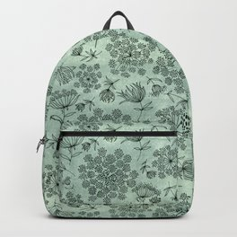 queen anne's lace pattern Backpack