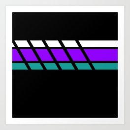 Team Colors 4..Aqua, purple Art Print