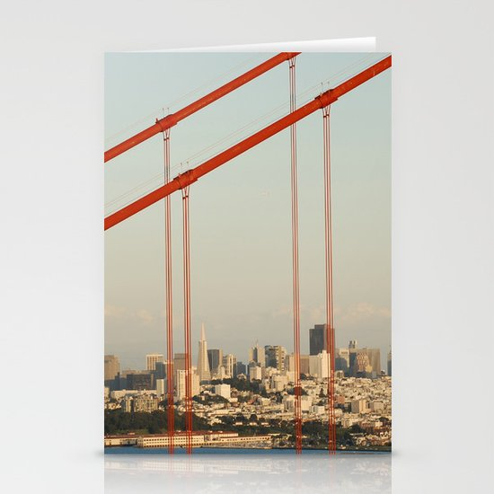 Golden San Gate Francisco Bridge Stationery Cards