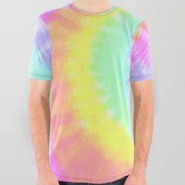 Pastel Tie Dye All Over Graphic Tee