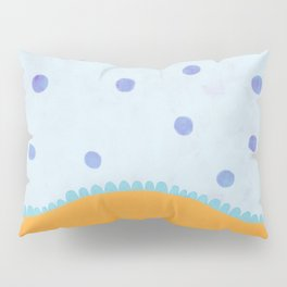 Circus Blue Pok Dos Orange Pillow Sham