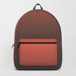 Pantone Living Coral & Beluga Gray Gradient Ombre Blend, Soft Horizontal Line Backpack