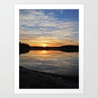 minnesota Art Prints featuring Minnesota Sunrise by Heartland Photography By SJW