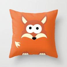 Minimal Fox Throw Pillow