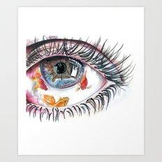 Koi Fish in Eye Art Print