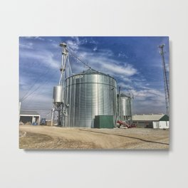 Grain Silo Metal Print