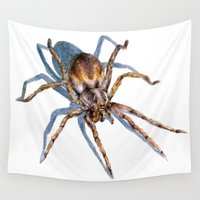 spider Wall Tapestries featuring Spider by BigRedSharks