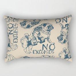 NO EXCUSES Rectangular Pillow