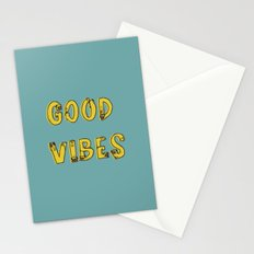 Good Vibes Pugs Stationery Cards