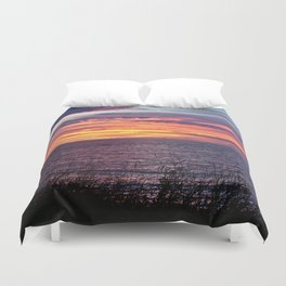 Sunset Delight in Sainte-Anne-Des-Monts Duvet Cover