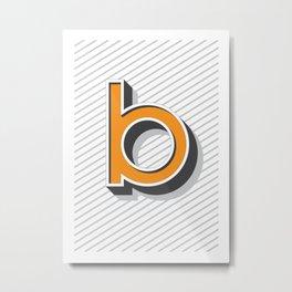 """Tipography """"B"""" Metal Print"""