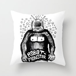 Robot-Monster Throw Pillow