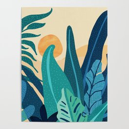 Afternoon Landscape  - Vertical Retro Palette Poster