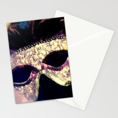 Mardi Gras Mask Stationery Cards