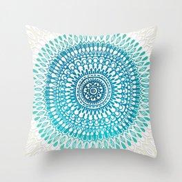 Radiate in Teal + Emerald Throw Pillow