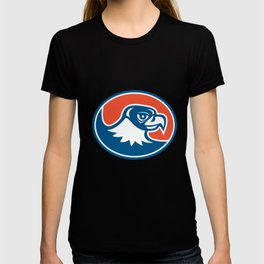 Falcon Head Side Oval Retro T-shirt