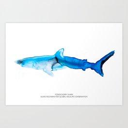 Pondicherry Shark Art Print
