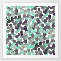 Gracie Spot Aqua Grey Art Print