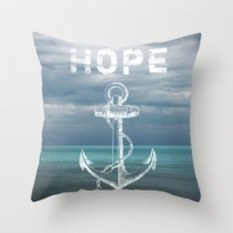 Hope Anchor Throw Pillow
