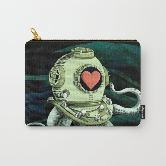 octopus diver in love Carry-All Pouch