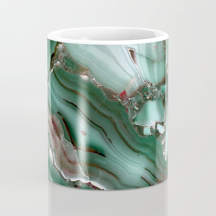 Luxury Malachite Marble Agate Coffee Mug