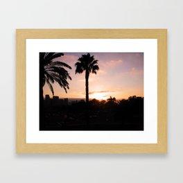 San Diego Sunset Framed Art Print