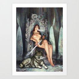 Wolf queen Art Print