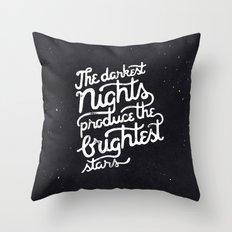 Darkest Nights Throw Pillow