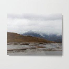 Misty Snows Metal Print