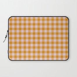 Gingham Orange - Pink Laptop Sleeve